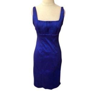 Calvin Klein Shiny Blue/Purple Cocktail Dress